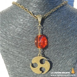 Collier Celte n°1 dé 3 orange