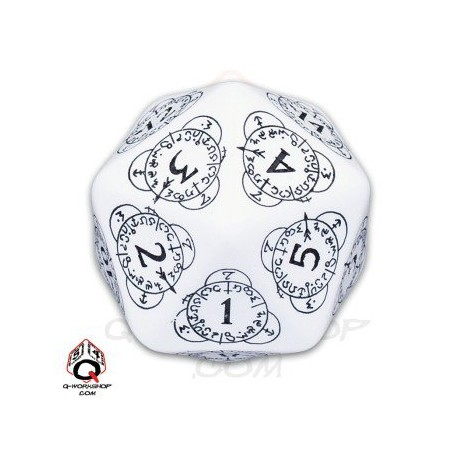 D20 Level Counter Blanc