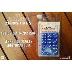 Set de Dés GAMUSINOS pour Petits Détectives de Monstres (PRECOMMANDE)
