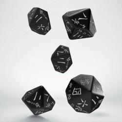 Set de dés Japanese Noir et Blanc Q-Workshop