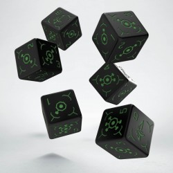 Set de 6 dés 6 faces INGRESS Vert