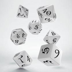 Set de dés Classic Blanc Q-Workshop