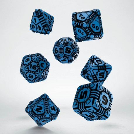 Set de dés Tech Dice Bleu Q-Workshop