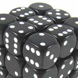 Set de mini dés 6 Opaque Noir CHESSEX