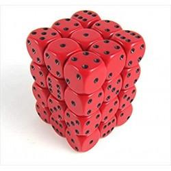 Set de mini dés 6 Opaque Rouge et Noir CHESSEX