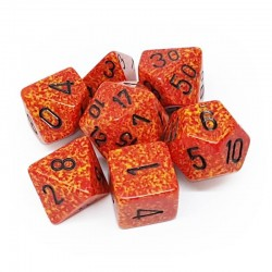 Set de 7 dés Speckled Fire CHESSEX